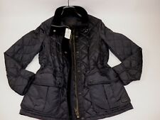 NWT COACH Size Small Women's Long Sleeve Black Quilted Corduroy Trim Jacket