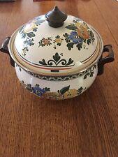 Asta German Enamel Cookware Small Casserole Dutch Oven w/Lid Amsterdam
