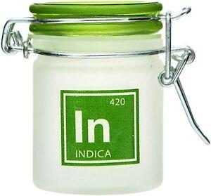 Airtight Glass Mini Stash Jar 1.5 Oz - In 'Indica' Design