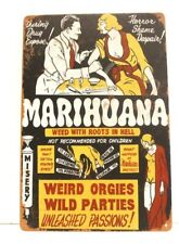 New Marijuana Tin Metal Poster Sign Bar Vintage Retro Ad Style Marihuana Pot