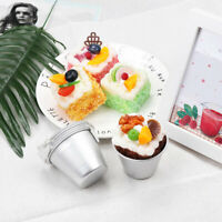 6Pcs Aluminum Mini Non-stick Round Cake Baking Mould Pan Pudding Bakeware Tool