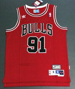 Dennis Rodman #91 Chicago Bulls Basketball Jersey Stitched Red