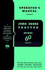 John Deere 60 Series Operators Instruction Manual JD