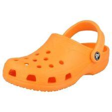 Scarpe da donna arancione Crocs Piatto (Meno di 1,3 cm)