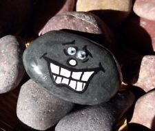 """One of The Kind Hand Painted Rock Art Emoji Rock & Quote """"Perseverance is not.."""""""