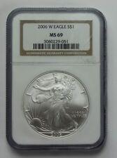 2006-W American Silver Eagle NGC MS69 ASE 1oz Silver .999 Fine Bullion $1 NR