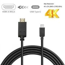 6ft USB Type-C Thunderbolt 3 to 4K@30Hz HDMI Cable Fr Macbook Dell Lenovo NUC HP