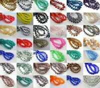 Lots 200pcs 3x2mm Faceted Crystal Glass Rondelle Loose Spacer Beads 52colors#Q