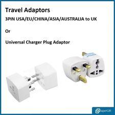 3 PIN PLUG TRAVEL ADAPTOR Universal USA/EU/CHINA/ASIA/AUSTRALIA to UK