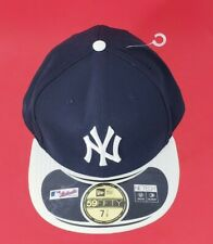 NEW ERA 59FIFTY New York Yankees Fitted Hat Cap Black Mlb Baseball size 7 7/8