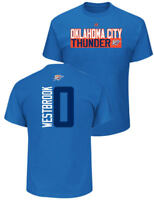 Russell Westbrook Oklahoma City Thunder Mens Sport Royal Vertical Short Sleeve T