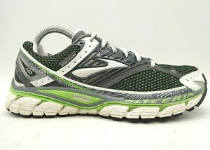 Brooks Glycerin 10 Gray Green Mesh Lace up Athletic Running Shoes Women's 8.5 B
