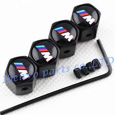 Anti-theft Black Metal Car Wheel Tyre Tire Stem Air Valve Cap For BMW M-Power