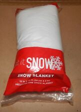 "Christmas Snow Blanket 15"" x 10 ft Let It Snow Tree Skirt Decoration 151Q"