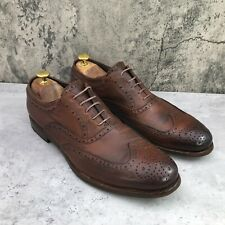 To Boot New York Men's Brown Pebble Grain Leather Wingtip Oxford Shoes Size 9