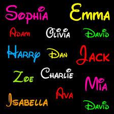 2 Parole Personalizzato Boy Girl Nome Decalcomanie Adesivi Per Auto Jdm Portatile Porta Decorazioni da parete