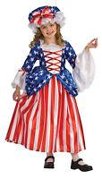 Betsy Ross Child Girls Costume Petticoat & Cap Halloween Fancy Dress Rubies
