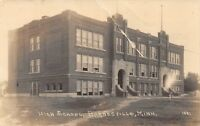 D93/ Barnesville Minnesota Mn Real Photo RPPC Postcard c1920 High School