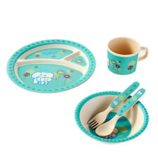 Kids Cartoon Elephant Bamboo Fiber Infant Oval Tableware Set  for Baby Toddlers