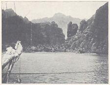 G0953 Polynésie - Iles Marquises - La baie des Vierges - Stampa - 1923 old print