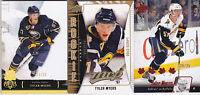 09-10 UD MVP Tyler Myers /100 Rookie Gold Script Sabres 2009