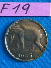 Congo belge : 1 franc 1946