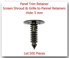 500 Pcs Screen Shrourd & Grille to Panel Retainers Hole:5mm Fits: GM & Universal