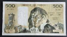 FRANCE - FRANCIA - FRENCH NOTE - BILLET DE 500 FRANCS PASCAL 5/8/1982 TTB.
