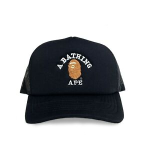 """A BATHING APE"" Embroidered FOAM TRUCKER Hat (BAPE HEAD supreme AAPE COLORS)"