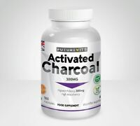 Activated Charcoal 180 Capsules 300mg Bottle Made In UK Futurevits Gluten Vegan