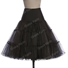 50s Petticoat Black Skirts White Retro Vintage Swing Skirt Short Dress Classic