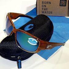0043dffca5ef Costa Del Mar Luke Polarized Sunglasses-Wood/Green Mirror Glass 400G Lens LK  81