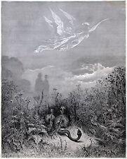 PURGATORIO:DANTE E VIRGILIO NELLA VALLE FELICE.Gustave Doré.Divina Commedia.1890