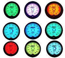 """2"""" 52mm LED Electronic Digital Black  Multi-color Turbo 30 PSI Boost Gauge Meter"""