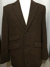 Sette Ponti Balmoral Tweed Mens Large Wool Blend Unstructured Sport 2B Brown