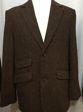 Sette Ponti Balmoral Tweed Mens Large Wool Blend Unstructured Sport 2B Brown