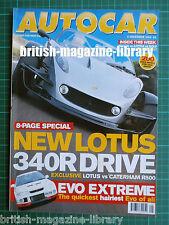Autocar 8/12/1999 Lotus 340R v Caterham 500R v Ariel Atom CLK55 Test Holden HSV