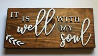 It is Well with My Soul Sustainable Reclaimed Pallet Wood Sign