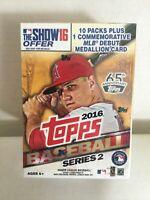 2016 Topps SERIES 2 Baseball BLASTER BOX - 101 Total Cards, 10 Packs & Medallion