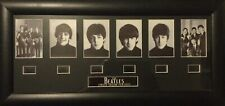 """More details for the beatles limited edition film cells 22"""" x 11"""" black frame with 6 film cells"""