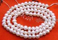 """4-5mm Natural white Freshwater Round Pearl Loose Beads for Jewelry Making 14"""""""
