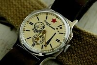 Pobeda Yuri Gagarin Wristwatch Mechanical Leather Strap NATO