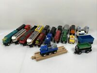 Wooden Magnetic Train Cars Lot 25 Pieces, Thomas Wooden Track Compatible