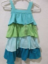 NWT Baby Gap Girls Teal Aqua Layered Ruffle Dress Size 18-24m NWT