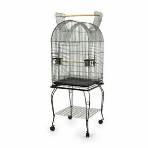 150cm Bird Cage Pet Parrot Aviary Birds Stand-alone Budgie Perch Castor Wheels