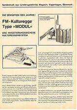 "FM- Kulturegge Type ""Modul"", orig. Sonderdruck 60er Jahre"
