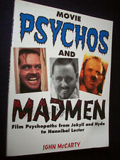 Movie Psychos And Madmen McCarty Film Cinema Book 1993 1st Ed Stalk Slash Etc