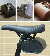 Retro Bike Tail Bag Rear Saddle Bag Cycling Seat Pouch Rear Leather Bicycle