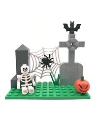 Small Halloween Custom Set Building Blocks Skeleton Zombie Decoration Scene