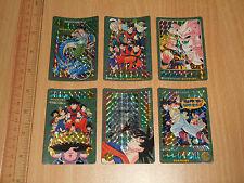 **+A Bandai DragonBall Visual Adventure 95 Part 7 EX Prism Cards Set of 6pcs